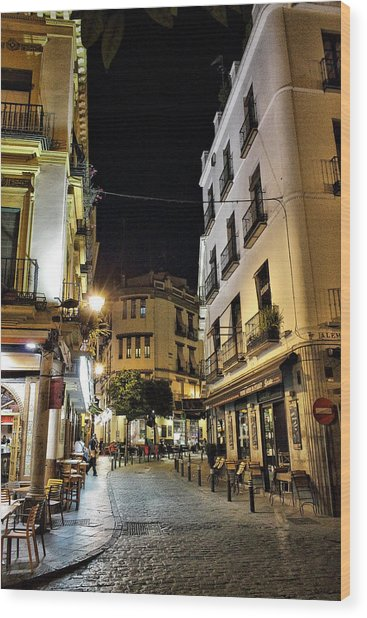 Seville Nights Wood Print