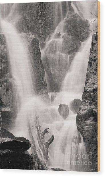 Seward Falls Wood Print by Chris Heitstuman