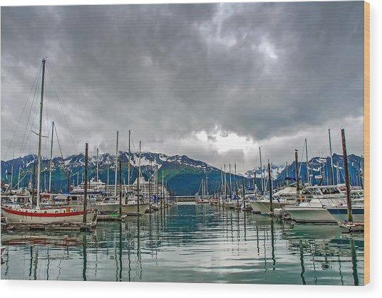 Seward Harbour Alaska Wood Print
