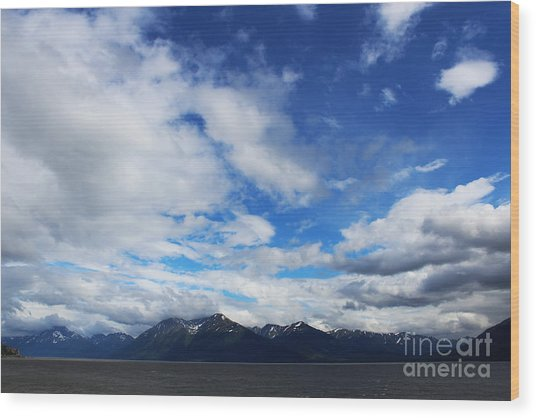 Seward Highway Wood Print