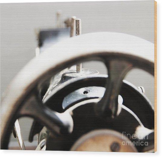 Sewing Machine 3 Wood Print