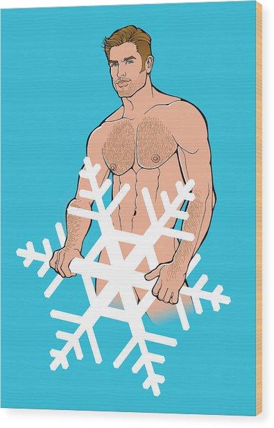 Sexy Snowman C Wood Print