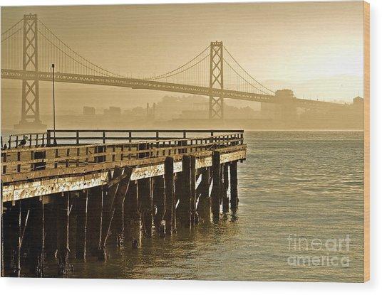 Sf Bay Bridge From Treasure Island Wood Print