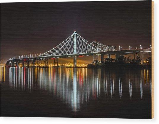 Sf Bay Bridge Wood Print