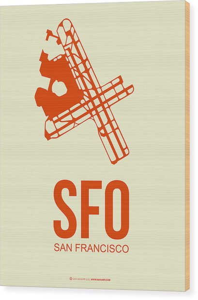 Sfo San Francisco Airport Poster 1 Wood Print