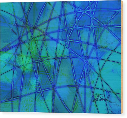 Shades Of Blue   Wood Print by Ann Powell