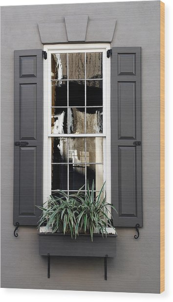 Shades Of Grey In Charleston Wood Print