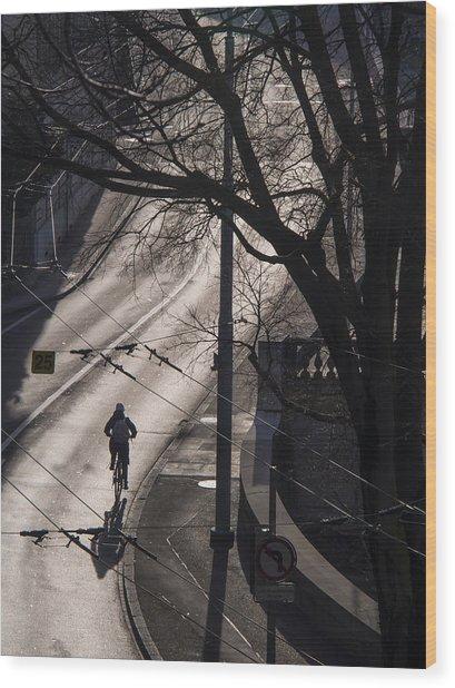 Shadow And Light Wood Print