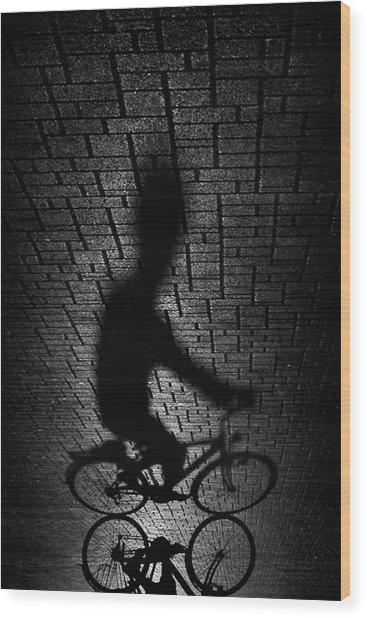 Shadow Bike... Wood Print