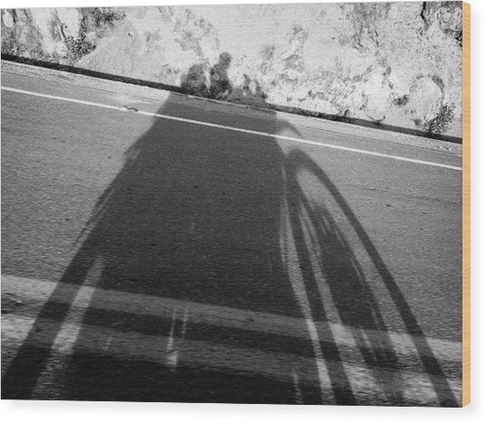Shadow Of Adventure Wood Print