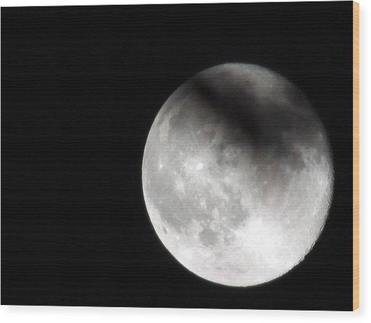Shadow On The Moon Wood Print