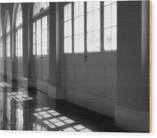 Shadows At The Cabildo Wood Print by James Stough