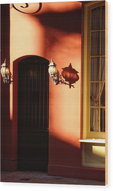 Shadows In The French Quarter Wood Print