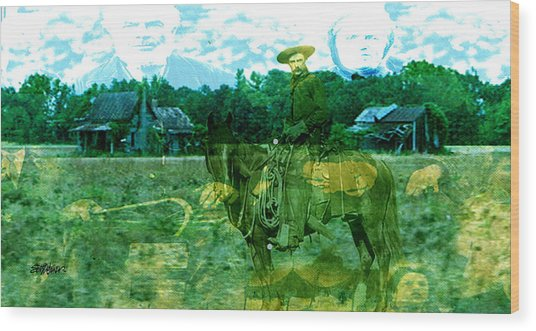 Shadows On The Land Wood Print