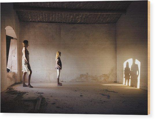 Shadows Reborn - Convergence Wood Print