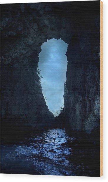 Shadowy Grotto - Malta Wood Print