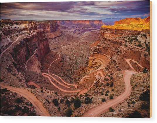Shafer Trail Horizontal Wood Print