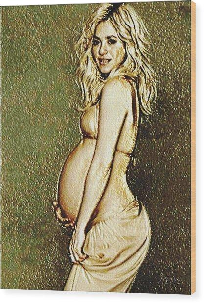 Shakira Baby Wood Print