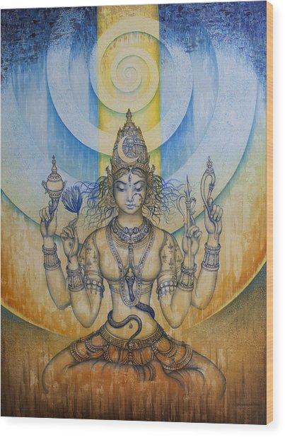 Shakti - Tripura Sundari Wood Print