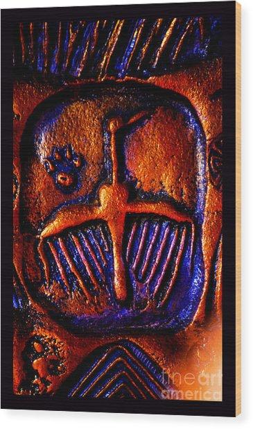 Shamanic Desert Wood Print