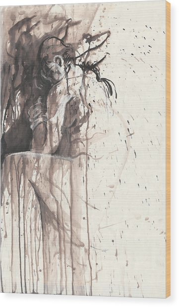 Shame Wood Print