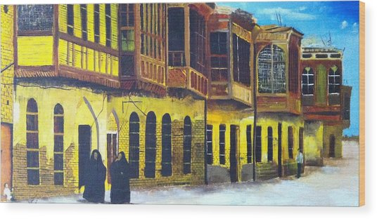 Shanasheel Of Old Baghdad Wood Print by Rami Besancon