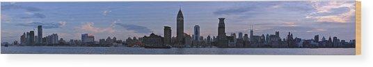 Shanghai Bund Panorama - Dusk Wood Print