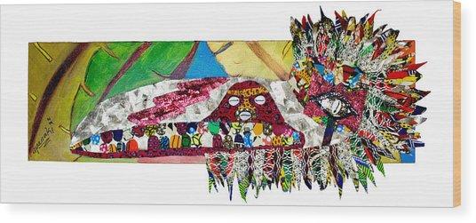 Shango Firebird Wood Print