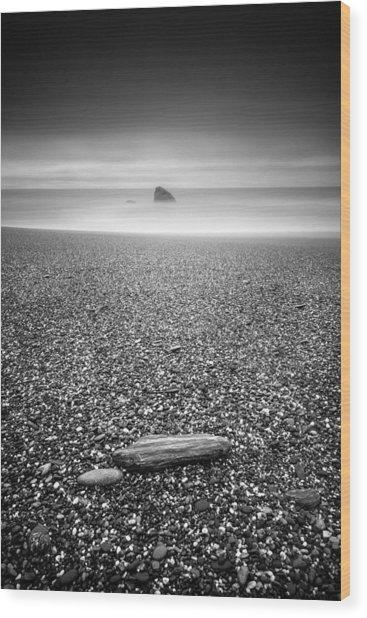 Shark Fin Wood Print by Alexander Kunz