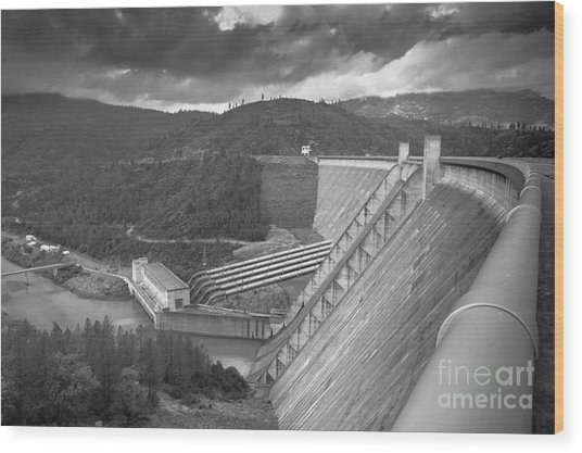 Shasta Lake Dam Wood Print