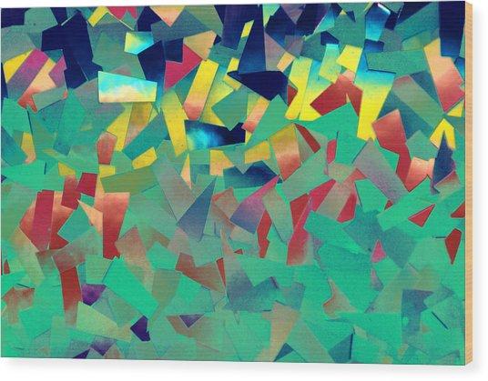 Shattered Color Wood Print
