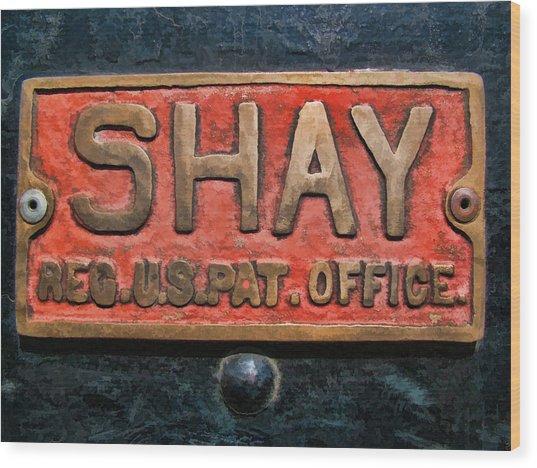 Shay Builders Plate Wood Print
