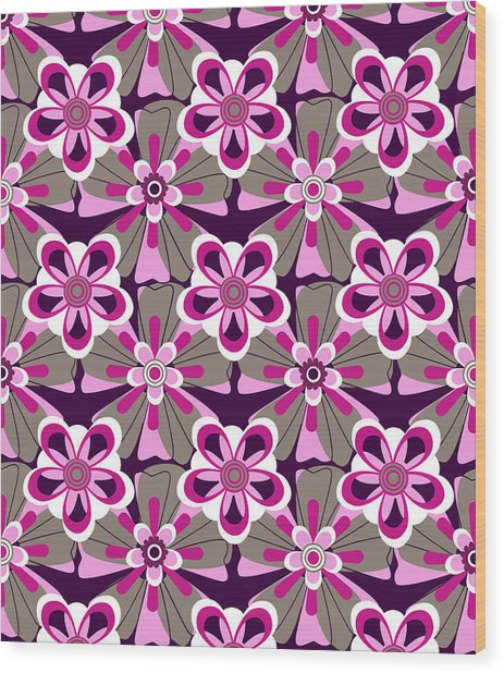 She Loves Me Floral Wood Print by Lisa Noneman