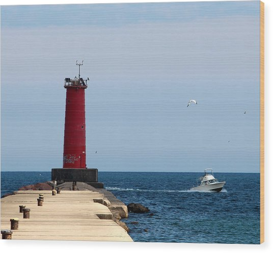 Sheboygan Breakwater Lighthouse Wood Print