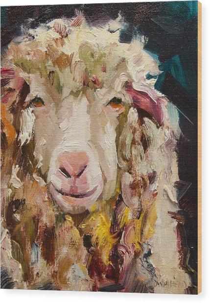Sheep Alert Wood Print