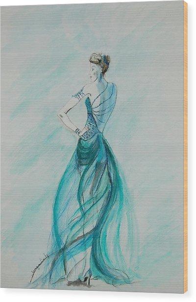 Sheer Blue Wood Print