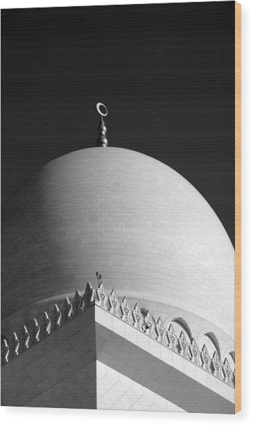 Sheikh Zayed Grand Mosque Wood Print by Myles Cummings