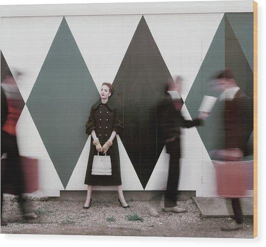 Sheila Kilgore Amid Passersby Wood Print