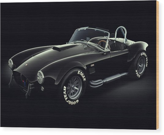 Shelby Cobra 427 - Ghost Wood Print