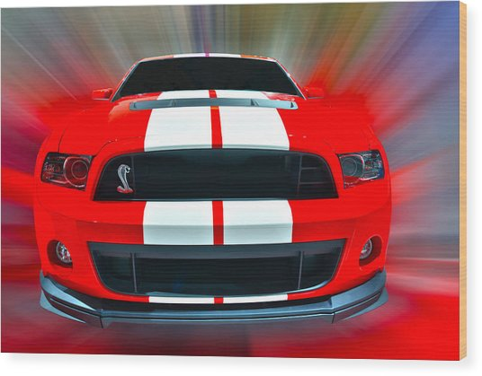 Shelby Gt 500  2013 Wood Print