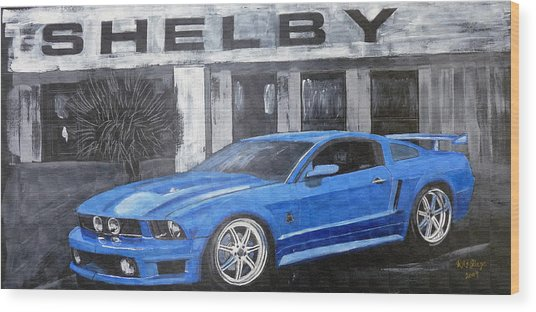 Shelby Mustang Wood Print