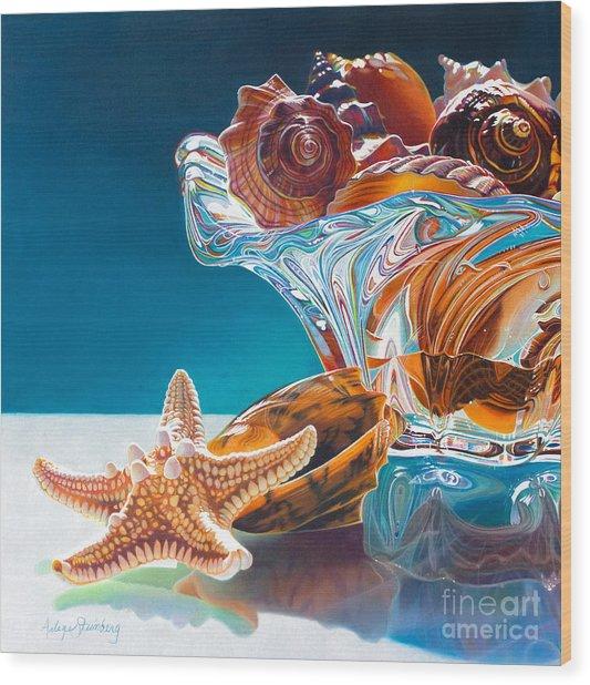 Shell Shocked Wood Print by Arlene Steinberg