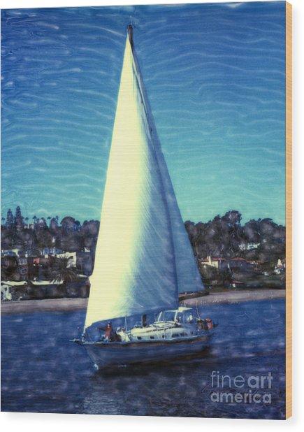 Shelter Island Sailing Wood Print