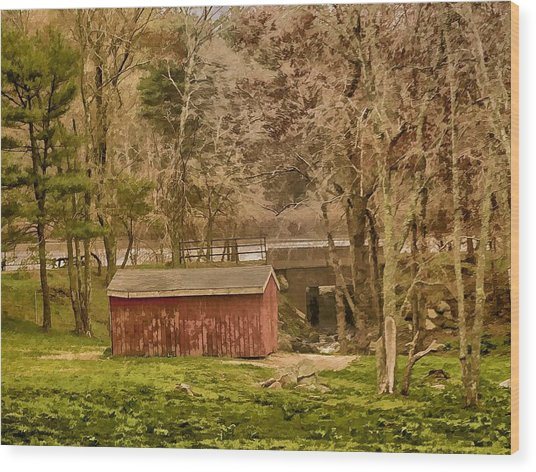 Shelter Photo Art Wood Print by Constantine Gregory