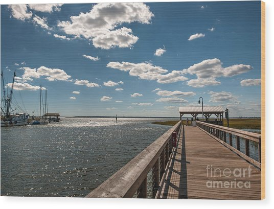 Shem Creek Pavilion  Wood Print
