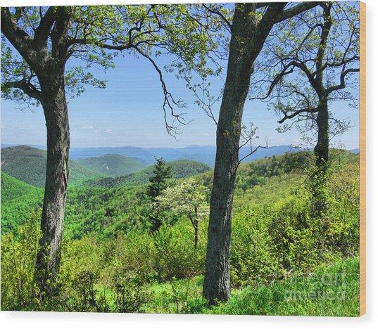 Shenandoah Mountain Ridge Wood Print