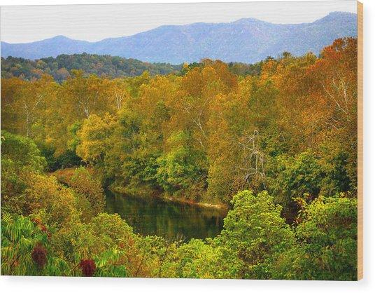 Shenandoah River Wood Print