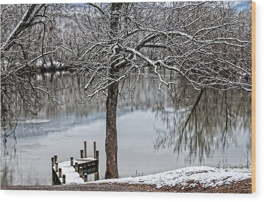 Shenandoah Winter Serenity Wood Print