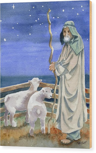 Shepherds Watched Their Flocks By Night Wood Print