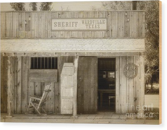Sheriff Office Wood Print